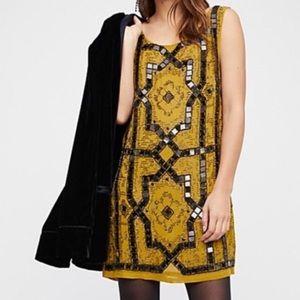 Free people speak easy embellished mini dress